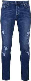 Jeans Denim Jack and Jones Slim Fit Glenn Mens Trouser Pants Mid Wash