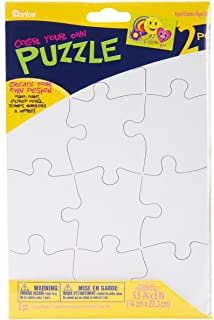 Darice PUZ100 12-Piece Puzzle to Color Set, 51/2 by 8-Inch
