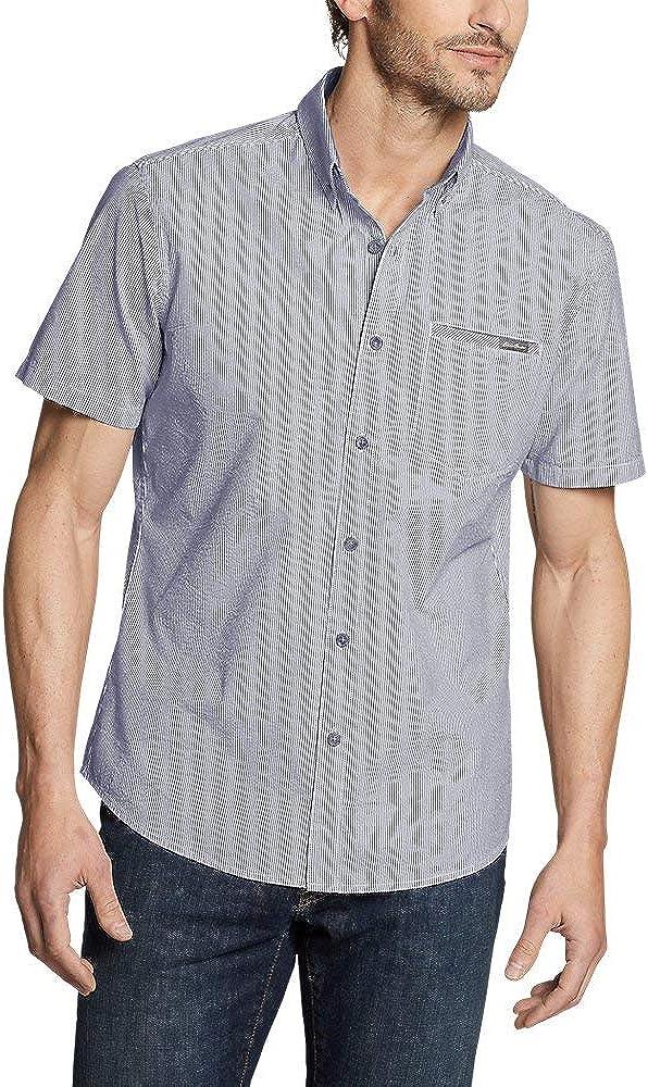 Eddie Bauer Men's Bainbridge Short-Sleeve Seersucker Shirt