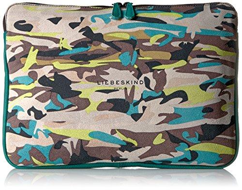 Liebeskind Berlin Damen Laptop-Tasche, Camouflage Limettengrün, Einheitsgröße