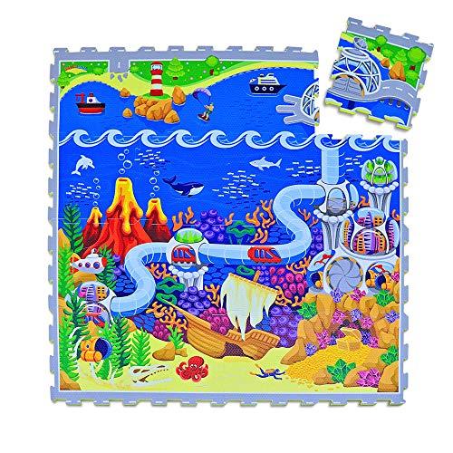 swonuk Alfombra Puzzle para Niños, alfombrilla de juguete de espuma sólida para rompecabezas de números, 25 Piezas Grueso (0.47 Pulgadas) para Decoración de la habitación de los niños(color aleatorio)
