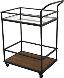 """eclife Kitchen Islands Cart Rolling Kitchen Cart Drawer Storage W/Wheels, 33""""L x 22.8""""L x 15.7""""W, for Dining Rooms Kitchens & Living Rooms (Iron)"""