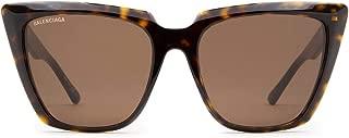 Luxury Fashion   Balenciaga Womens BB0046S002 Brown Sunglasses   Fall Winter 19