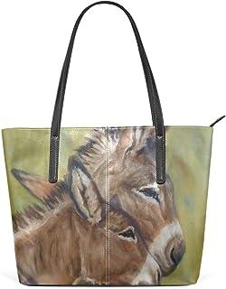 FANTAZIO Handtasche, Schultertasche, Tiermalerei, Esel, Umarmung