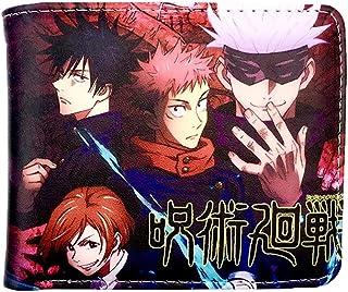 1pc Jujutsu Kaisen breve paragrafo Unisex Anime Due Dimensioni Portafoglio Cosplay Portafogli (Jujutsu Kaisen)