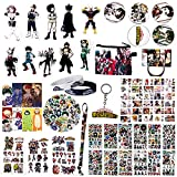Fantere Fan Set Compatible with My Hero Academia with Badge, Keychain, Coin Purse, Lanyard, Lomo Card, Sticker, Wristband, Magnet Sticker, Tatoo Sticker, Bookmark and Phone Stand
