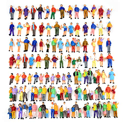 100pcs 1:87 HO Scale Standing Scenery Passengers Model Train Park Street People Figure Model Building Kit