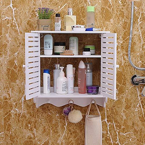 2 puertas dobles para montaje en pared, armario de baño para cosméticos, armario colgante para el baño