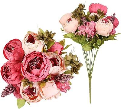 Artificial Flower Silk Peony Bouquet Necessaries Wedding Decor Usable 2019 UoUZa