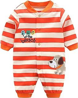 Pyjama Bébé Filles Garçons Combinaisons en Coton Grenouillères Bodys à Manches Longues, 12 mois,Chien