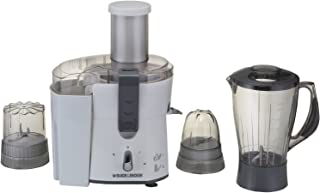 Black+Decker 500W Four-in-One Juicer, Blender, Mincer & Grinder, White - JBGM600-B5, 2 Years Warranty