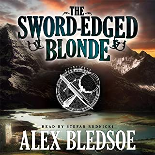 The Sword-Edged Blonde  audiobook cover art
