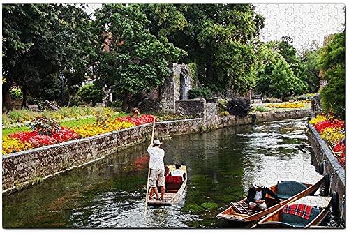 1000 Piezas-Reino Unido Inglaterra Canterbury Great Stour Way Rompecabezas Viaje Recuerdo Madera