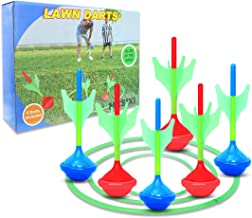MESIXI Darts Game Yard Lawn Darts Games Target Toys for Kids Adults - Glow in The Dark Great Fun Family Outdoor Garden Bac...