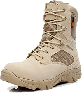 Men's Army Tactics Combat High Boots Outdoor Trekking Hiking High-top Shoes Special Forces Military Boots Breathable