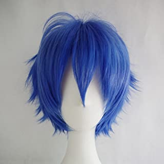 S-noilite Unisex Cosplay Short Straight Hair Wig Women Mens Anime Comic Con Party Dress Wigs Dark Blue