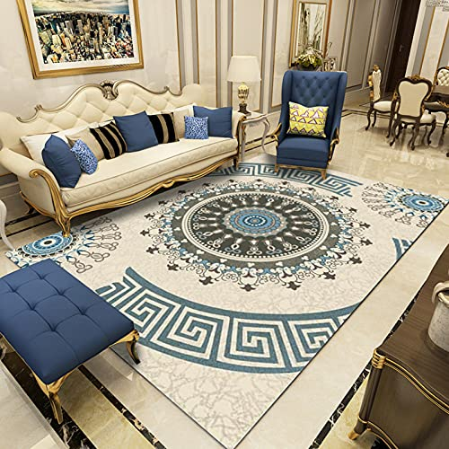 Nordic Ink-Splashing Style Carpet 3D Digital Printing Living Room Blanket Bedroom Bedside Mat Office Coffee Table Floor Mat Simple Atmosphere