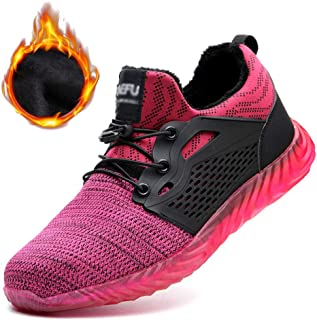 Safety Shoes Mens Work Trainers Ladies Running Construction Boots Women Steel Toe Cap Lightweight Mesh Knit Footwear