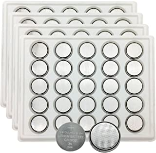 MJKAA CR2032 Button Cell Battery 3.0V 2032 Button Cell Batteries DL2032 KCR2032 5004LC ECR2032(Pack-100)