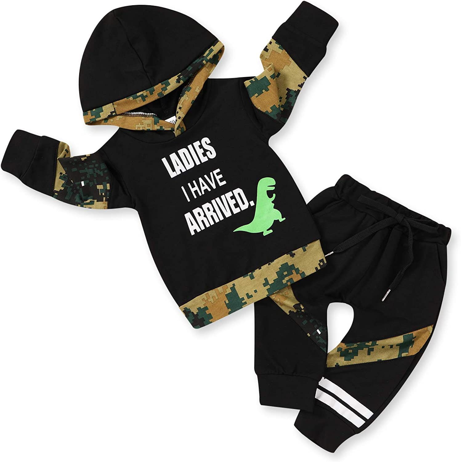Newborn Baby Boy Today's only Outfit Letter Print Classic Sleeve Long Swe Tops Hoodie