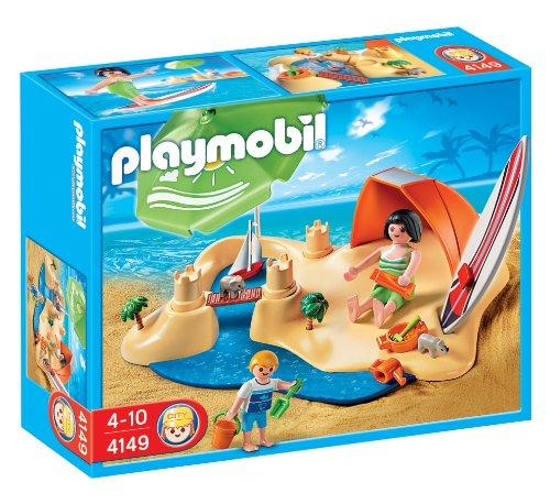 PLAYMOBIL - Set de Playa, Figuras Incluidas (4149)