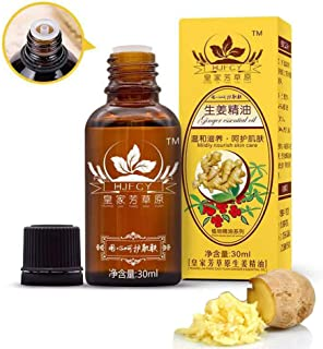 Ofanyia Lymphatic Drainage Ginger Oil [ 100% PURE Natural ] Body Massage Oil Ginger Oil 30ml