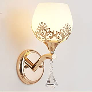 MX Light Fixture Simple and Modern Creative Crystal LED Bedroom Staircase Wall Lamp