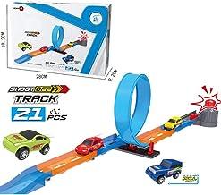 Jouet pour enfant Hot Wheels Piste de Lancement Tour Electrique coffret de jeu pour petites voitures avec circuit et lanceur FTH80