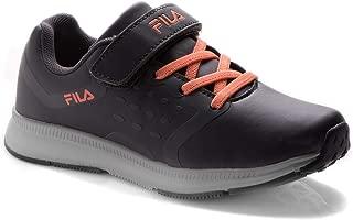 Fila Memory Skipper Lthr Kids Running Shoes Black in Size UK 2 UK