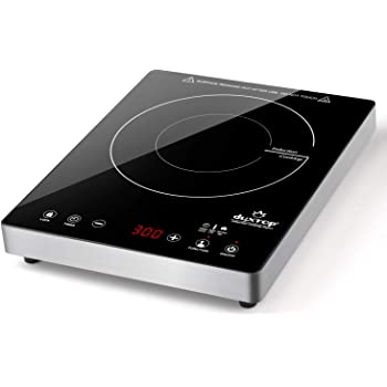 Duxtop Portable Induction Cooktop, High End Full Glass Induction Burner with Sensor Touch, 1800W Countertop Burner with Stainless Steel Housing, E200A