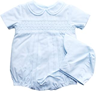 Petit Ami Baby Boys' Bubble with Smocking and Faggoting, Newborn