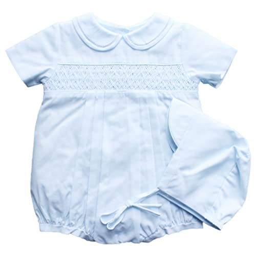 829ee0a7e Petit Ami Romper with Smocking and Fagotting at Collar