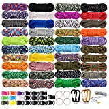 WEREWOLVES 550 Paracord Type III - Survival Paracord Bracelet Rope Kits - Tent Rope Parachute Cord Combo Crafting Kits, Many Colors of Outdoor Survival Rope - Great Gift (40 Color)