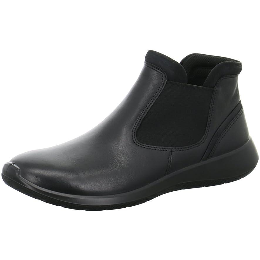 仮称散髪爆発物[エコー] レディース 女性用 シューズ 靴 ブーツ チェルシーブーツ アンクル Soft 5 Low Chelsea - Black/Black [並行輸入品]