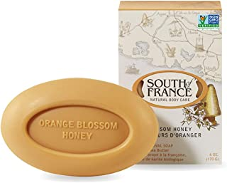 Orange Blossom Honey - South of France Natural Body Care Triple Milled Large 6OZ Bar Soap (4 Bars)