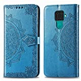 Bear Village Hülle für Huawei Mate 30 Lite/Nova 5I Pro, PU Lederhülle Handyhülle für Huawei Mate 30 Lite/Nova 5I Pro, Brieftasche Kratzfestes Magnet Handytasche mit Kartenfach, Blau