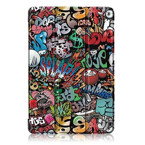 Acelive for Huawei M5 Lite Hülle, PU Leder Flip Schutzhülle mit Auto Schlaf/Wach Funktion Case Tasche mit Ständerfunktion für Huawei MediaPad M5 Lite 10 10.1 Zoll 2018 - 6