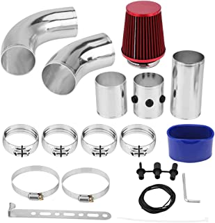 KIMISS 3inch Universal Car Cold Air Injection Intake Filter System Aluminium Hose Pipe Tube Kit