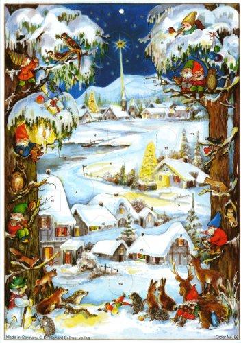 Sellmet Dwarfs in le Snow Calendrier de lavent