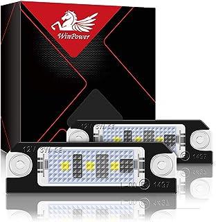 WinPower LED Kennzeichenleuchte 3 SMD Kennzeichenleuchte LED 6000K Xenonweiß mit Canbus Fehlerfrei Kompatibel mit Golf4 Golf5 Lupo Polo 9N, 2 Stück