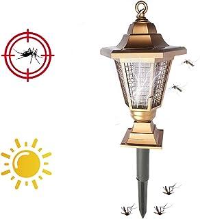 BZLEK Lámpara Antimosquitos UV, 2 En 1 Lámpara Trampa para Mosquitos con Carga Solar, Descarga Eléctrica A Matar Mosquitos Iluminación Exterior Repele Eficazmente Los Insectos Voladores
