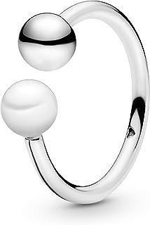 خاتم فضة للنساء بحجر زركونيا مكعب من باندورا 197573P-60 - 60 EU