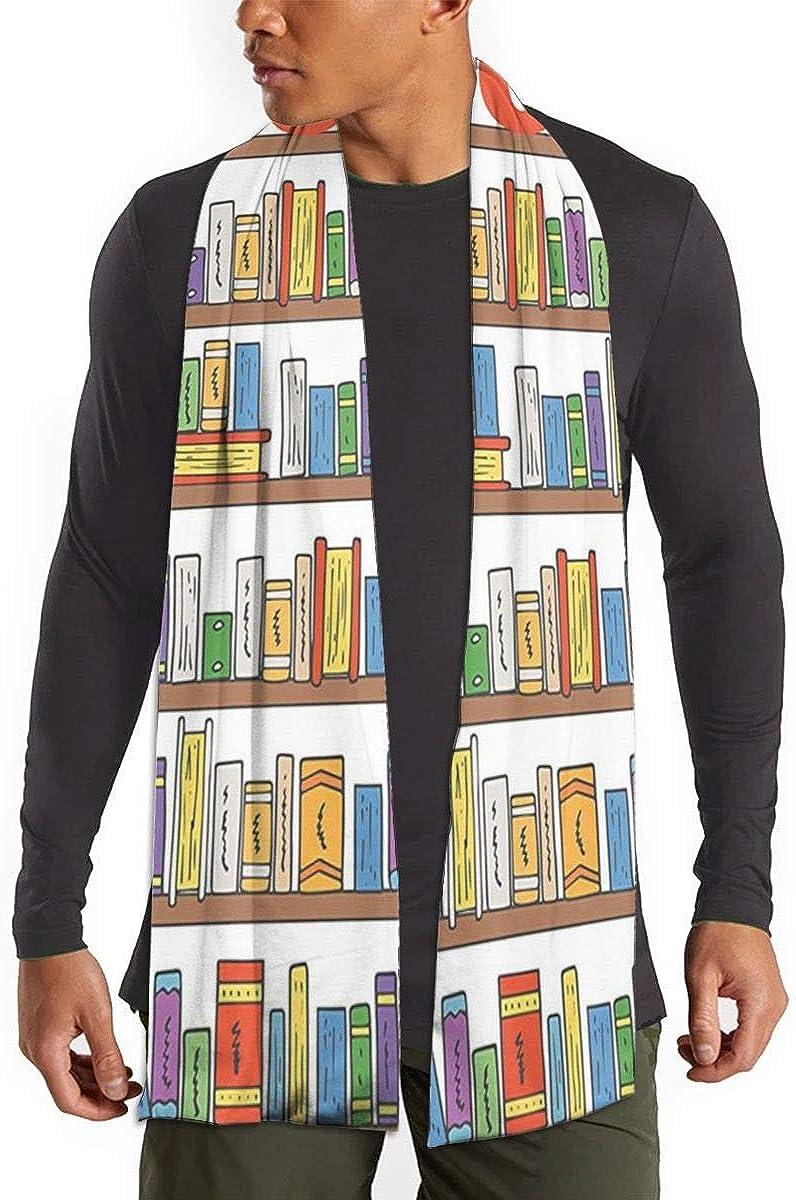 Cashmere Feel Scarf - Super Soft & Warm for Winter - Elegant Looks for Women & Men - Modern Library Bookshelf With A Ladder