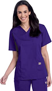 Landau Scrub Zone Women's Professional Comfortable & Durable 3-Pocket V-Neck Scrub Top