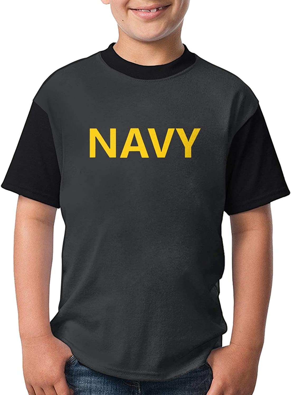 Us Navy Military Logo Cute Child Girls' Fashion Polo Shirts Short Sleeve