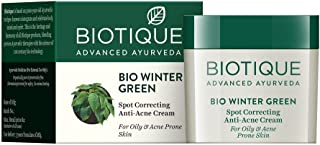 Biotique Spot correcting Anti-Acne Cream - Winter Green 15 Gm - (1 Pack)