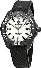 TAG Heuer Men's Aquaracer Titanium Case with Black Rubber Strap and White Dial Quartz Watch WAY108A.FT6141