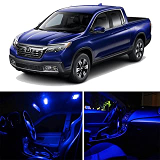 SCITOO 12Pcs Blue Package Kit Accessories Replacement Fits for Honda Ridgeline 2017 UP LED Bulb LED Interior Lights