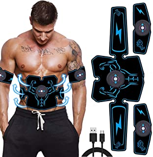 Abdominal Muscle Stimulator EMS Abdominal Vibrating Belt ABS Muscular Hip Trainer Massage Home Gym FitUSB Rechargeable Ele...
