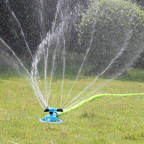 Sene Garden Sprinkler for Yard, Lawn Rotating Sprinklers Adjustable 360 Degree Covering Large Area Up to 3,000 Sq. Ft, for Automatically Watering Irrigation System Leak-Proof